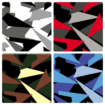 Triangle CAMOUFLAGE Vinyl Car Wrap DIY Auto Motorcycle Sticker film 30cm x 1.52m