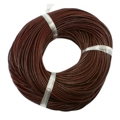 1mm Saddle Brown Leather Cord AUTHENTIC 100% LEATHER 1M 2M 3M Thong Lace Round