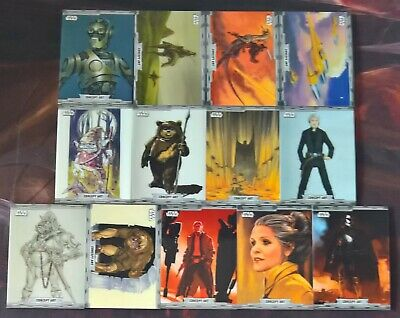 2019 Topps Star Wars Chrome Legacy CONCEPT ART Insert Cards (Pick Your Own)