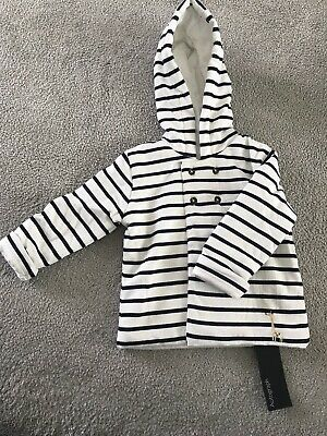 Marks & Spencer - Autograph Boys Stripped Jacket With Hood-Age 6-9 Months BNWT!
