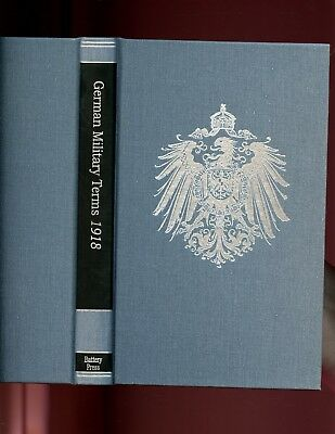 GERMAN MILITARY TERMS 1918. (Military  Dictionary)   . Battery pr r/p,  HB NEW