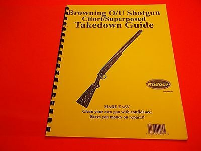 TAKEDOWN MANUAL BROWNING OVER UNDER SHOTGUN CITORI/SUPERPOSED, nice  reference