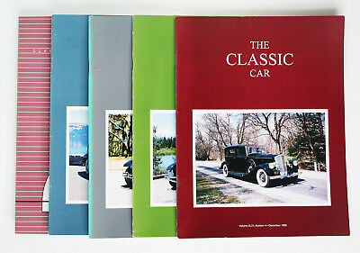 Classic Car Club of America; The Classic Car Magazine, Full Year 5 issues, 1996