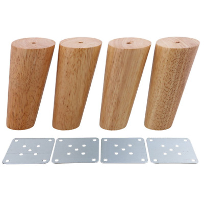 Pack of 4 Wood Furniture Parts Sofa Legs Oblique Tapered Wooden Furniture Legs