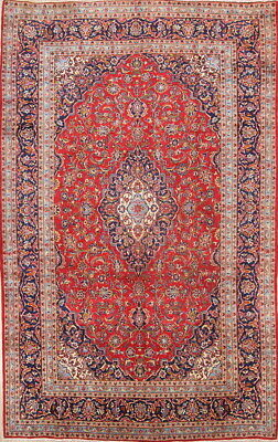 Traditional Floral Medallion Oriental Wool Area Rug Hand-Knotted Carpet RED 8x12