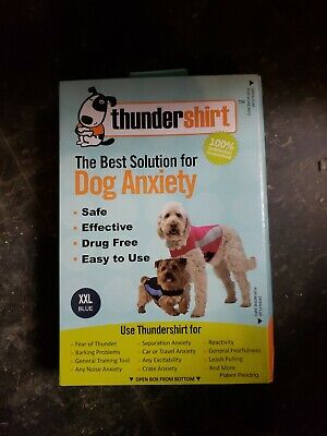 THUNDERSHIRT POLO for Dogs RELIEVES STRESS & ANXIETY BLUE XXL Brand new