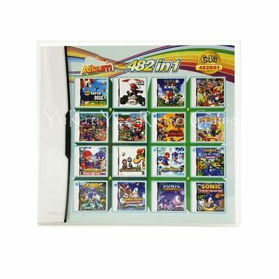 482 in 1 Video Game Accessories Parts Compilation Cartridge Card for DS/3DS/2DS