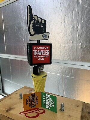"Traveler Seasonal Shandy Beer 11"" Tap Handle Keg. 4 Interchabeable Panels"