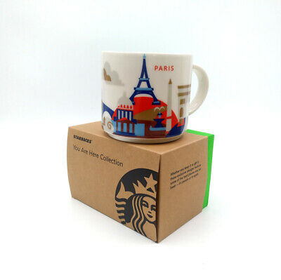 414ml Starbucks City Coffee Mug Cup YAH Paris France You Are Here Collection New