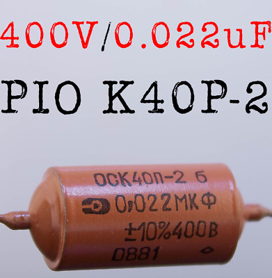 Ship from US 1 x 1000V 0.01uF 10nf K40Y-9 PIO PAPER SOUND CAPACITOR GUITAR CAPS