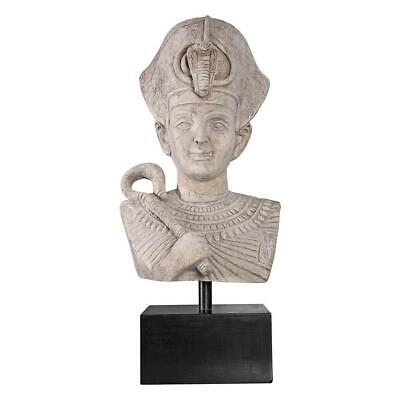 "29"" Ancient Egyptian Collectible Sculpture Pharaoh Ramses The Great Bust Statue"