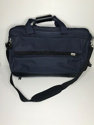 Vintage American Tourister NAVY Travel Overnight Tote Bag Carry-On Luggage