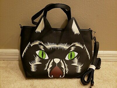 Disney Store HOCUS POCUS Faux Leather Bag Loungefly Halloween Purse Cat NWT