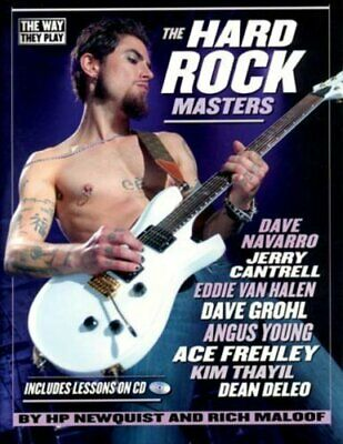 The Hard Rock Masters & CD by Newquist & Maloof Hard Rock Guitar