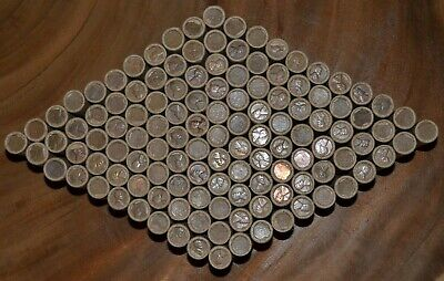 Wheat Cent Roll Old Coins 1909-1958 Steel Indian Wheat Us