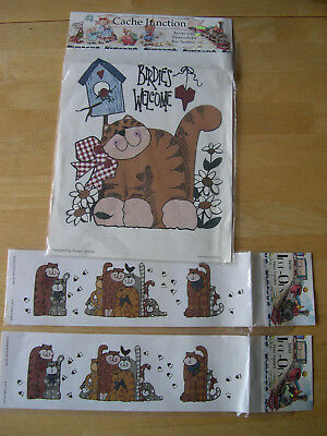 Cache Junction Iron-On Transfers by Seitec Birdies Welcome & Cattin Around Cats