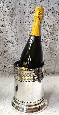 C1900- 1907 Sheffield English Silver Plated Pierced Wine Cooler By Marple & Co.