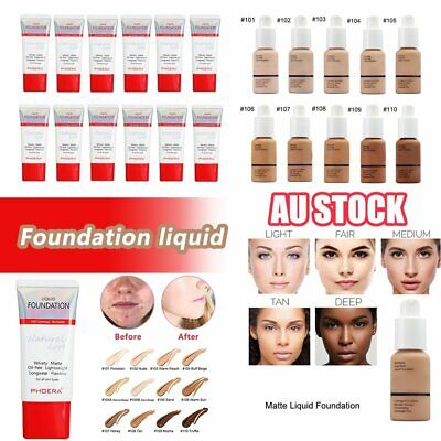 Coverage Concealer Moisturizing Cosmetic PHOERA Liquid Foundation Precious ZAU
