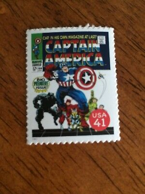 US Stamps Unused Marvel Comics Captain America Cover Collect or Use as Postage