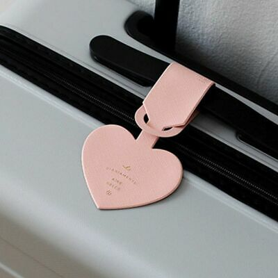 Luggage Tag Love Heart Shape Travel Suitcase ID Address Label Baggage Card