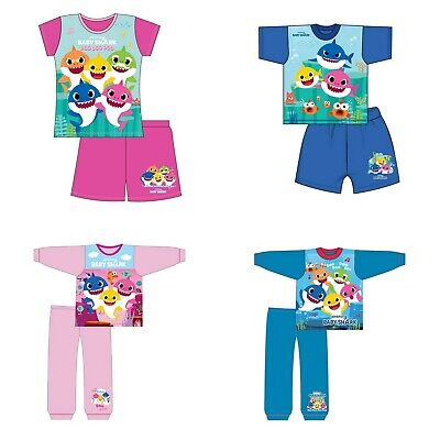 Boys Girls Kids Toddler Baby Shark Pyjamas Pjs Song Doo Doo  18 Months - 5 Years