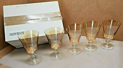 Art Deco Batch 5 Glass Amber Glass Very End a Cocktail Water Wine other 240 ML
