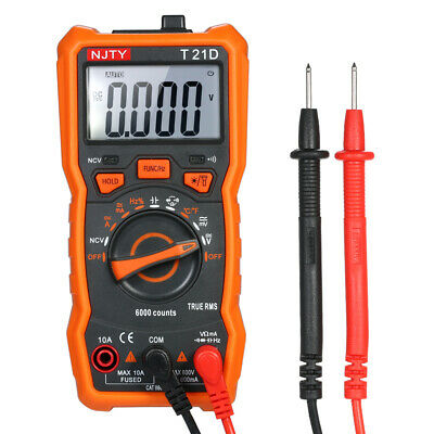 NJTY Digital Multimeter 6000 Counts NonContact True RMS Meter AC/DC Voltage