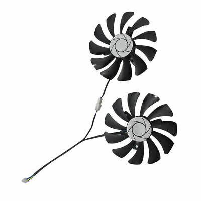 New 1 Pair Card Fan 85Mm Ha9010H12F-Z 4Pin Cooler Fan Replacement For Msi G T6U2