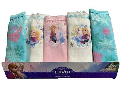 Girls 5 PACK Disney Frozen Underwear Pants Briefs Knickers 100% Cotton Age 2-10