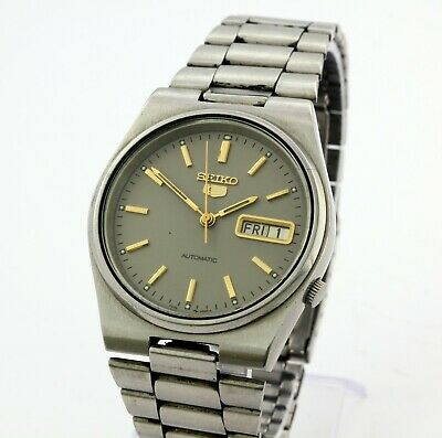 Seiko 5 day and date automatic men's wrist watch Japan, cal. 7009.A
