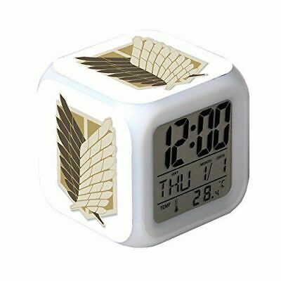 1x Attack on Titan Anime 7 Color Changing Night Light Alarm Clock Kid Toy Gift
