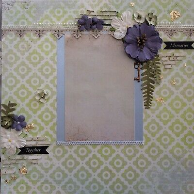 handmade scrapbook page 12 X 12 Memories Together Themed Layout