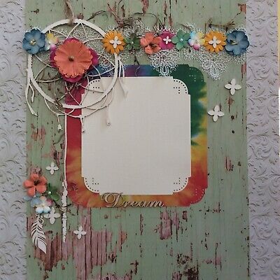 handmade scrapbook page 12 X 12 Dream Themed Layout