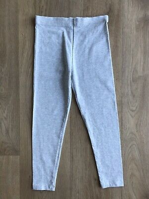 Girls Light Grey Leggings George 7-8 Years Great Condition