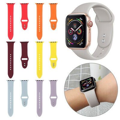 Soft Bracelet Watch Band Strap Silicone For Apple Watch Series 4 3 2 1 iWatch