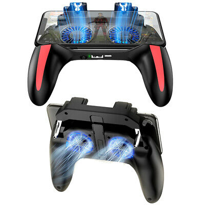 For Android IOS PUBG Mobile Dual Cooling Fans Joystick Gamepad Controller