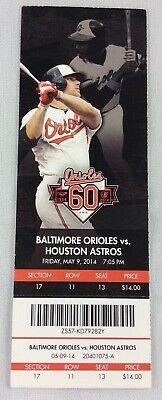 MLB 2014 05/09 Houston Astros at Baltimore Orioles Ticket-Wei-Yin Chen WP