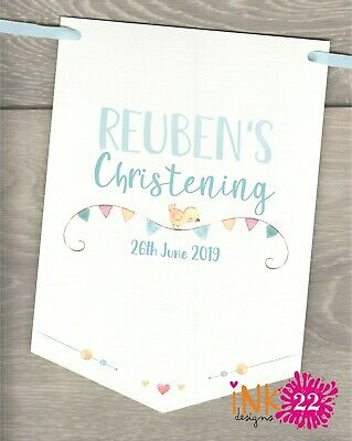 Personalised, Baptism, Christening, Naming Day Party Decoration Banner Bunting