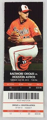 MLB 2013 07/30 Houston Astros at Baltimore Orioles Ticket - Wei-Yin Chen WP