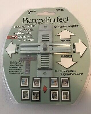 Picture Perfect Adjustable Picture Hanger Brand New Package 3 Pack