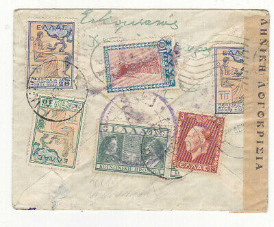 Greece..1934 A Greek Censored Cover Multifranked With Charity Stamps