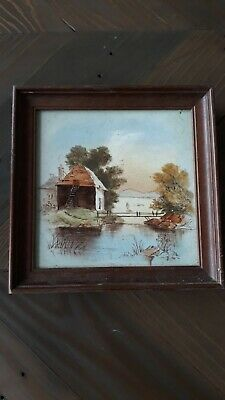 Vintage Hand Painted Ceramic Tile