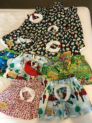 Children's Homemade Skirts with Matching Head Band