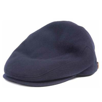 Barbour Men's Redshore Wool Flat Cap Navy Blue Various Sizes