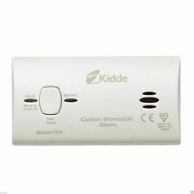 10 Year LED Carbon Monoxide Detector Alarm with Batteries - Kidde 7CO