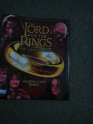 Lord Of The Rings T,T,Towers Binder With Full Set Of Cards