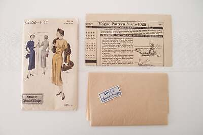 1940s Vogue Special Design midi length draped Dress Pattern vtg unused w/ tag