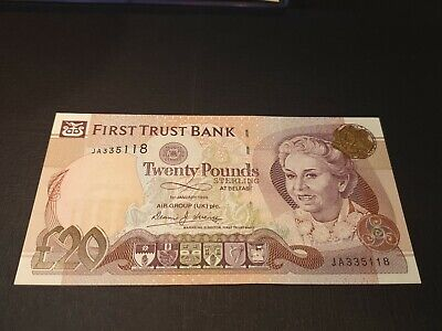 1998 Ireland Northern First Trust bank UNC /> Sailboat P-136 10 pounds