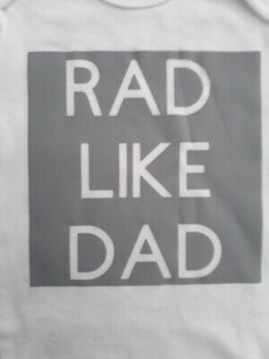 """Funny Hipster Baby boy clothes Bodysuit Shirt """"Rad Like Dad"""""""