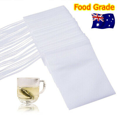 UP 400PCS Empty Teabags String Heat Seal Filter Paper Herb Loose Tea Bags NEW